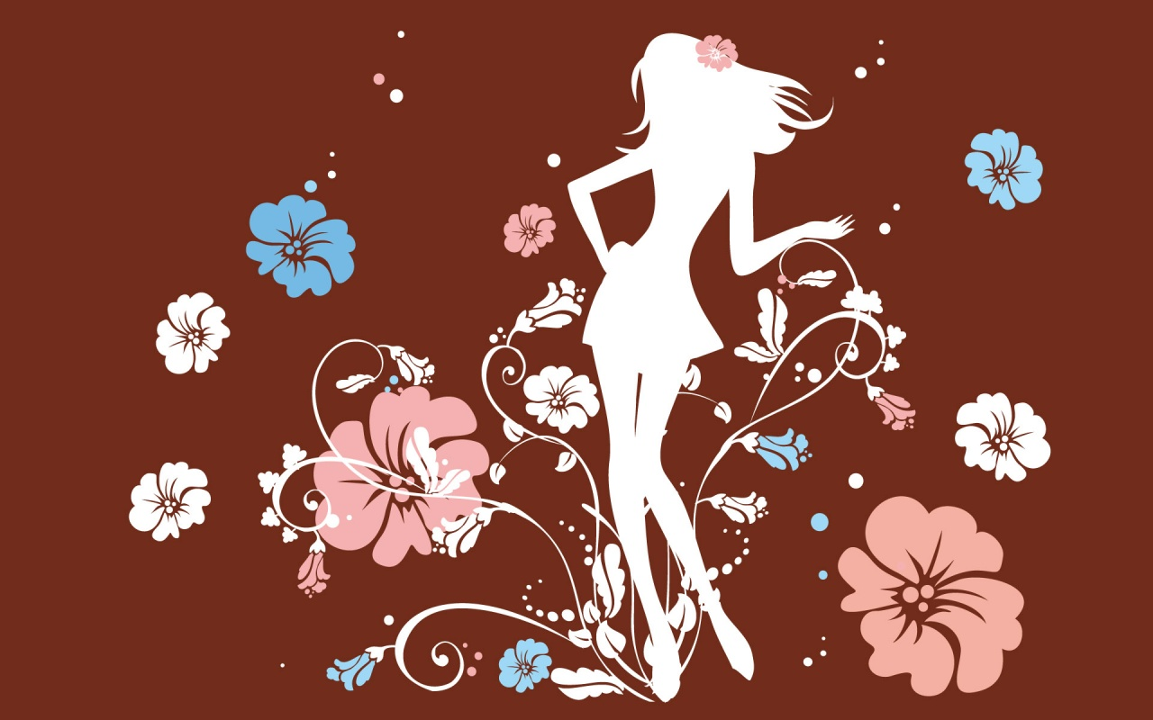 Cô gái giữa rừng hoa. Hình nền này thích hợp cho các girl lắm nhé.