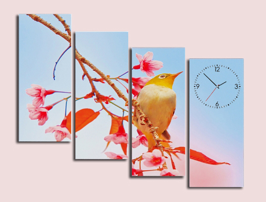 chim oanh trong tranh dong ho