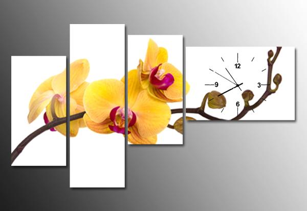 tranh dong ho hoa lan vang