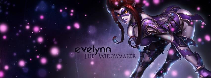 Phong cách ngầu với ảnh bìa Evelynn