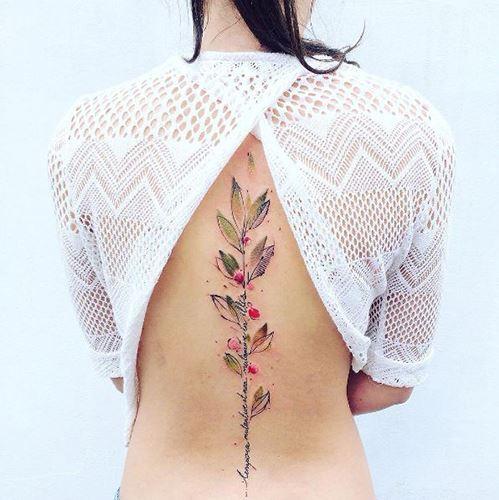 hinh xam hoa o lung dep