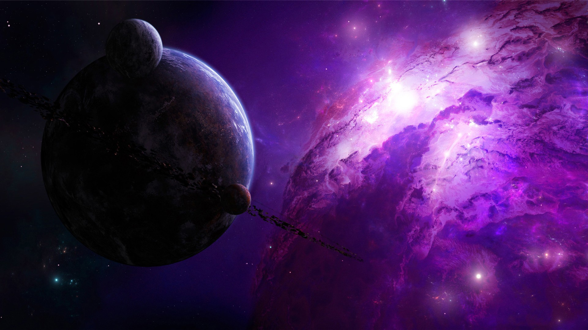 Thiên hà màu tím